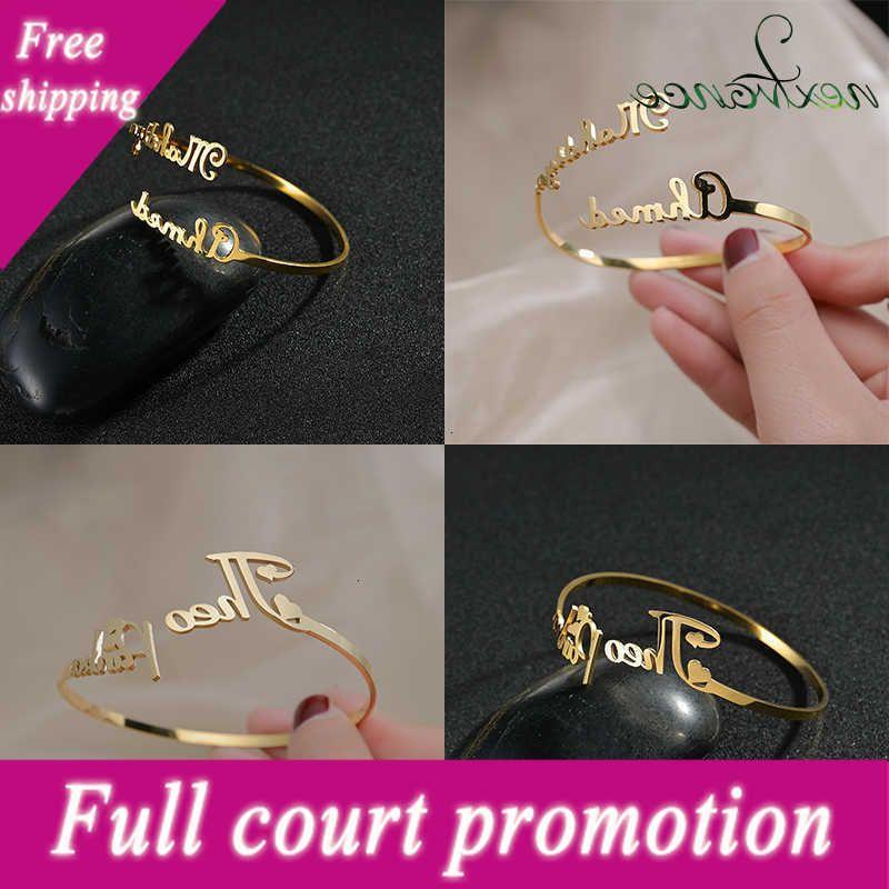 NextVance Gold Nom Personnalisé Bracelet en acier inoxydable Custom Custom Custom Coup Couple Rose Couple Bijoux Poison