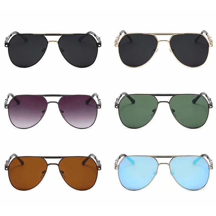 Evrensel Kadın Erkek Güneş Gözlüğü Siyah Güneş Shades Koyu Lens Gözlükler 6 Renkler G15 Gri Kahverengi Mavi Lensler