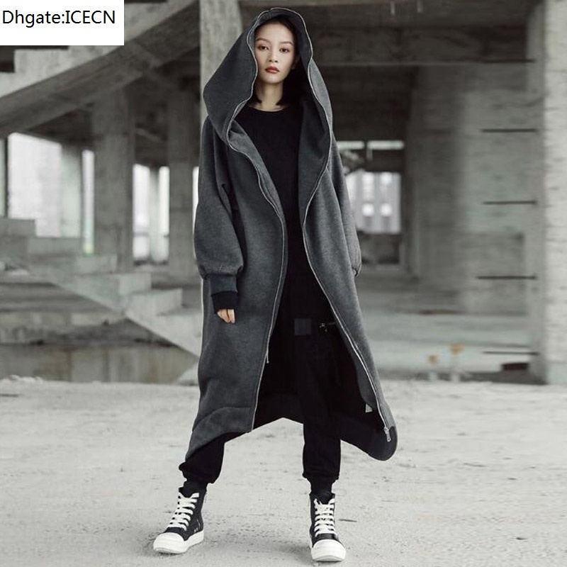 Felpa da donna con cappuccio a colori solido casual allentato manica lunga jacke autunno inverno nuovo moda femmina cappotto con cappuccio plus size m-3XL