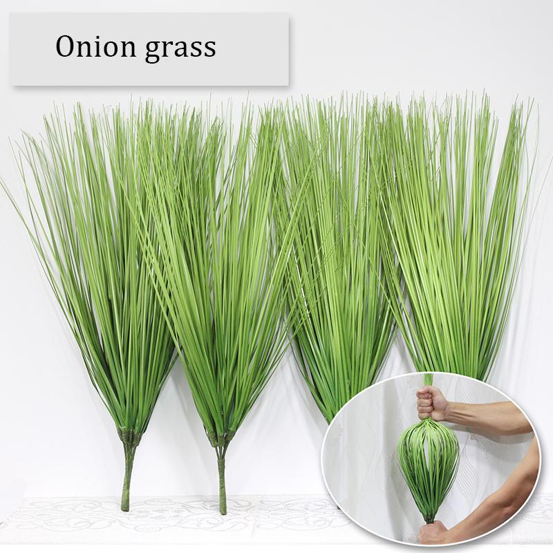 60cm Artificial leaf simulation leaves onion grass silk flower decoration flowers arranging lawn engineering fake plants