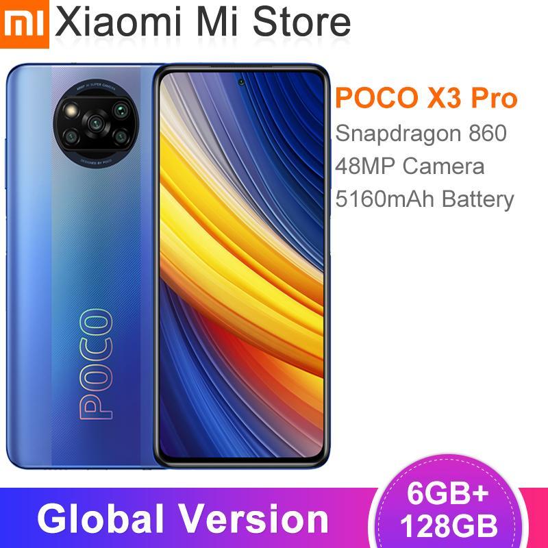Globals نسخة Poco X3 Pro مفيد Snapdragon 860 6 جيجابايت RAM 128GB ROM 120HZ Dotdisplay 5160mAh Batterie 48MP رباعية AI Kamera