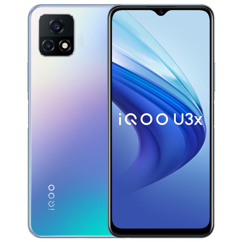 "Original vivo iqoo u3x 5g Handy 8 GB RAM 128 GB ROM Snapdragon 480 Octa Core Android 6.58 ""Vollbild 13.0mp 5000mAh Fingerprint-ID Gesichtswege Smart-Handy"