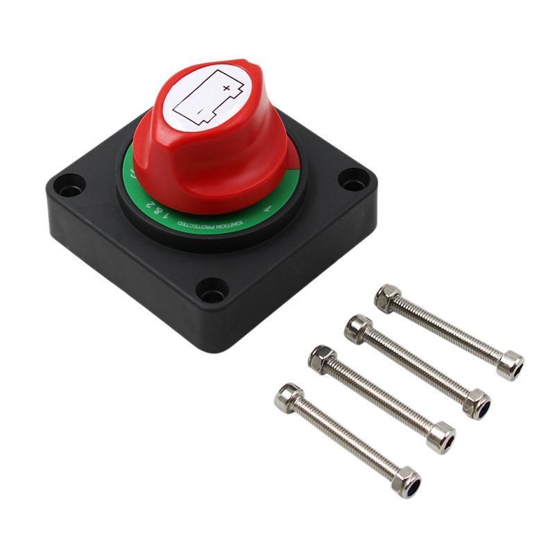 12V/24V/36V RV Disconnect Rotary Car Battery Isolator ON/OFF Switch For Auto Boat Yach ATV Parts