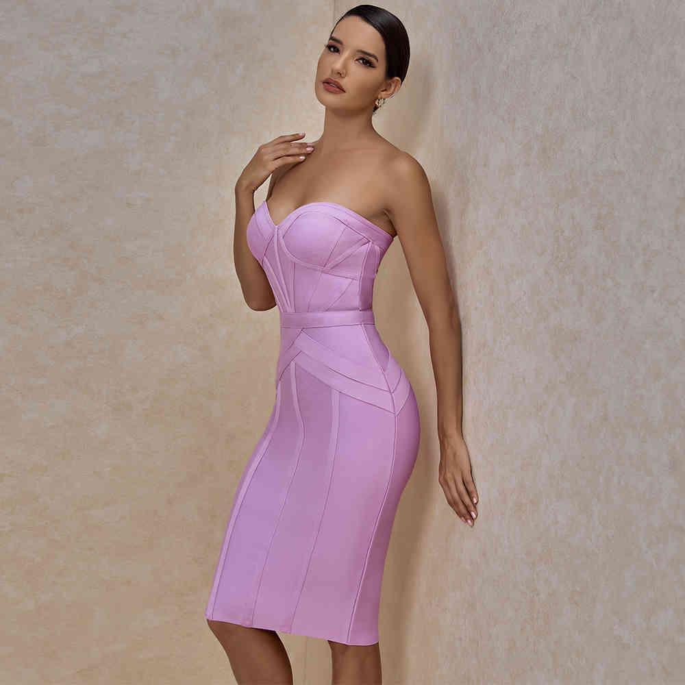 Ocstrade-vestido günah breteles renk lila mujer, vestido verano hasta la rodilla, ceido, seksi, para fiesta y club de noche, 2020