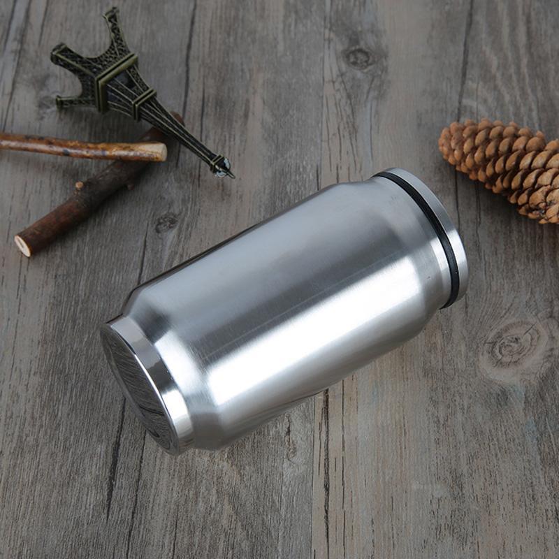 350 ml şişe yaratıcı büyük kapasiteli paslanmaz çelik kola kutular vakum termos sızdırmaz kupa