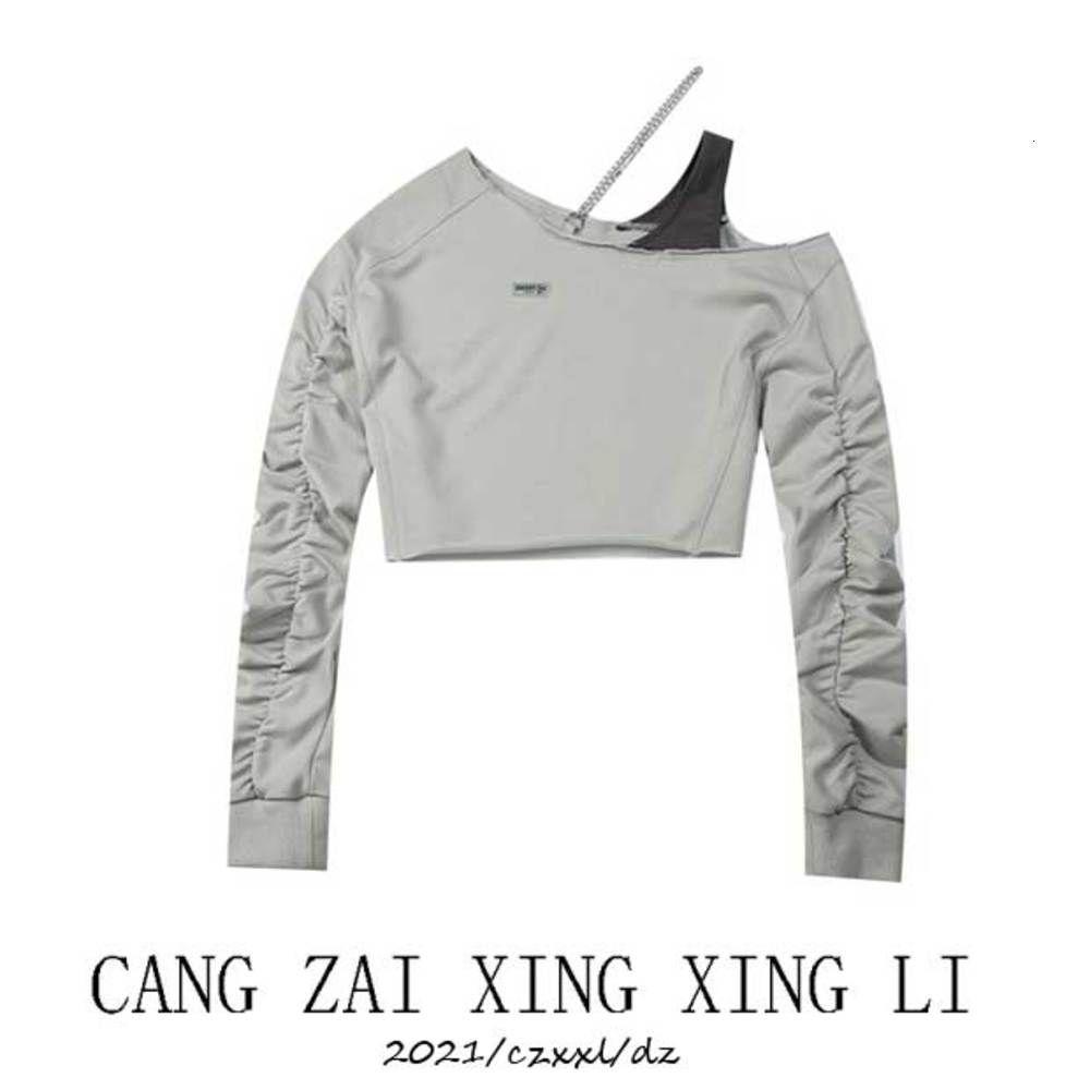 Felpe con cappuccio maglione corto in anticipo 2021 Top manica lunga a maniche lunghe coreane