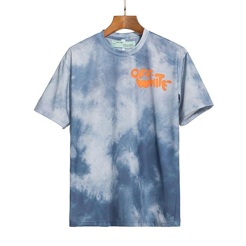 2021 New Tie Dye Wash Lleve de espuma de espuma de espuma de manga redonda para hombres y mujeres