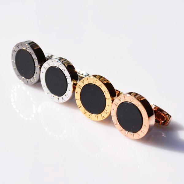 Lüks Manşet Bağlantıları Kaliteli Adam Klasik Paslanmaz Çelik Tarzı Takı Gümüş Altın Siyah Gül-Altın Renkler Gömlek Kol Düğmeleri