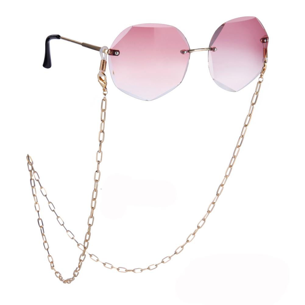 Vintage Iron Metal KC Gold Color Glasses Chain for Sunglasses Charm Necklace Lanyard Neck Holder Hippop Punk Jewelry