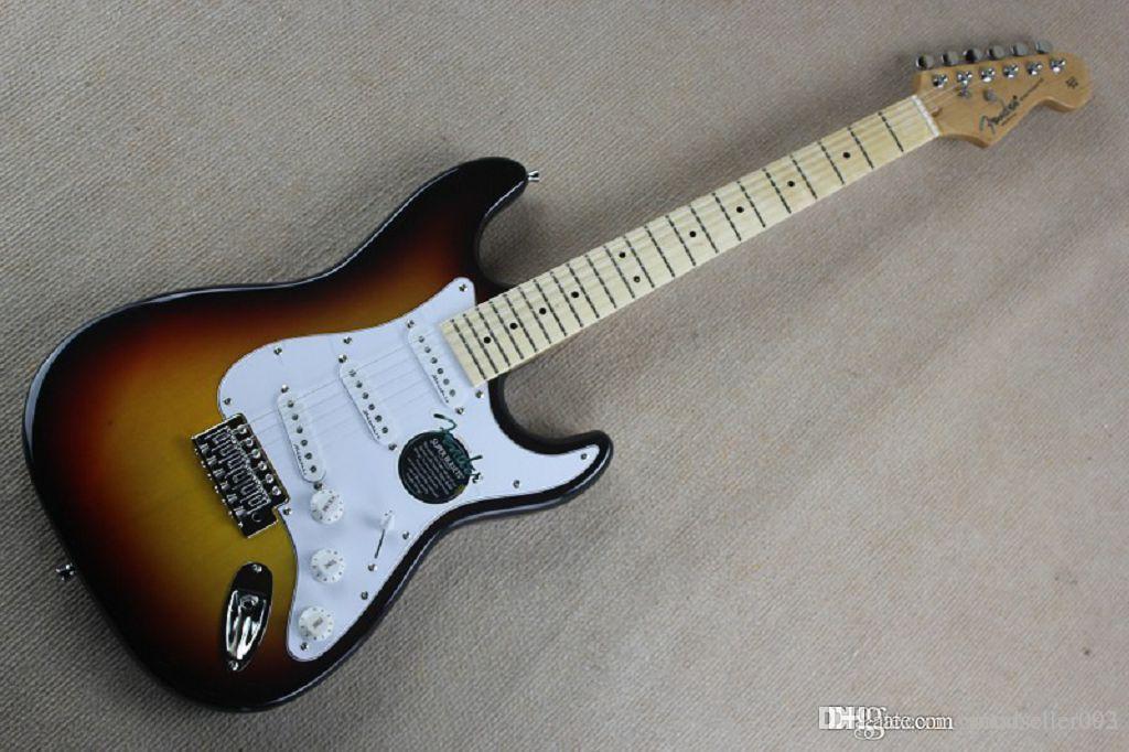 2020 Factory Top Quality New Stratocaster Custom Body 6 String Sunburst Guitare électrique en stock