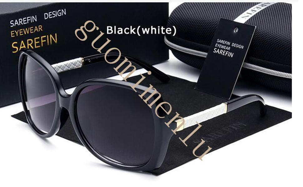 Hohe Qualität Mode Vintage UV400 Frauen Marke Designer Womens Sonnenbrille Damen Sonnenbrille mit Koffer und Box 7 Farben