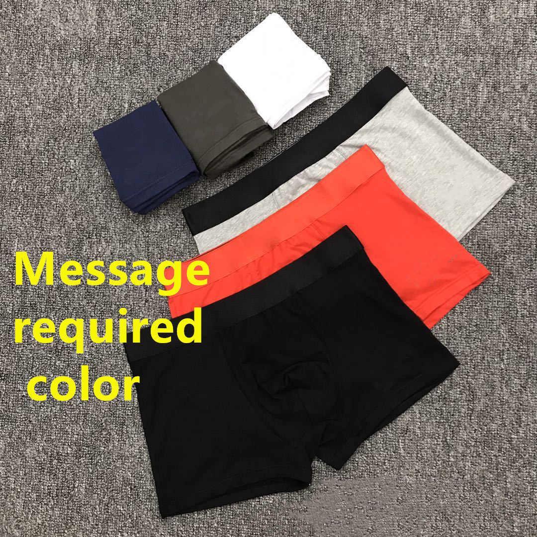 Erkek iç çamaşırlar boksörler külot şort iç çamaşırı için çekme karışık renkler erkekler seksi külot Asya boyutları çoklu seçenekler pamuk elastik bel rastgele renk