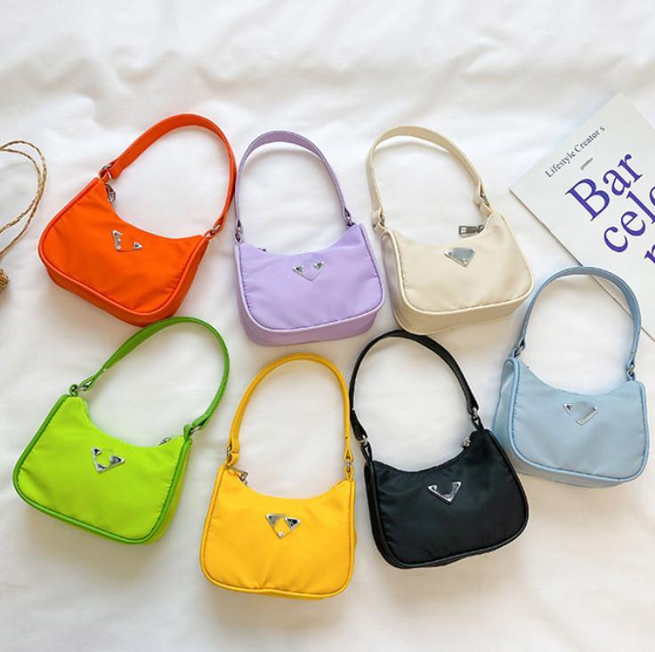 الفتيات الفاخرة حقائب واحدة الكتف 2021 ins أطفال مصغرة الأميرة محفظة الأطفال نايلون رسول حقيبة A5853