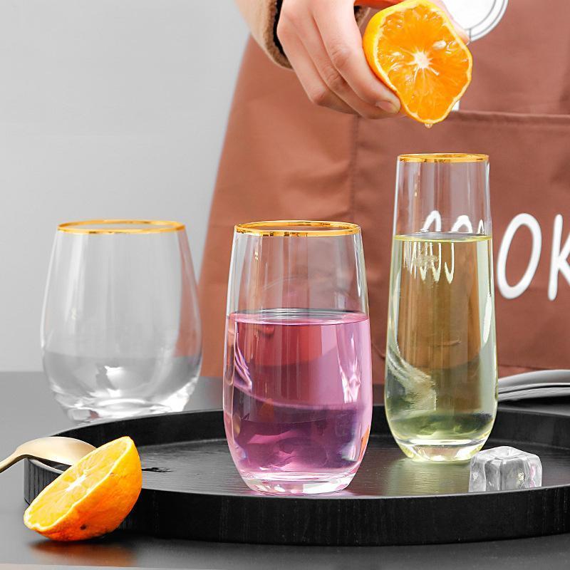 2 클래식 홈 아침 물 유리 사무실 주스 컵 GLA-1611 와인 안경 세트