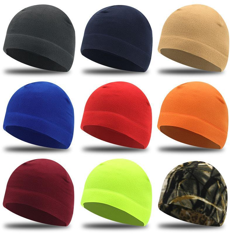 Beanies Women's Bucket Hat Autumn And Winter Solid Color Cap Japanese Windproof Warm Men's Caps Fashion Casual Riding Running