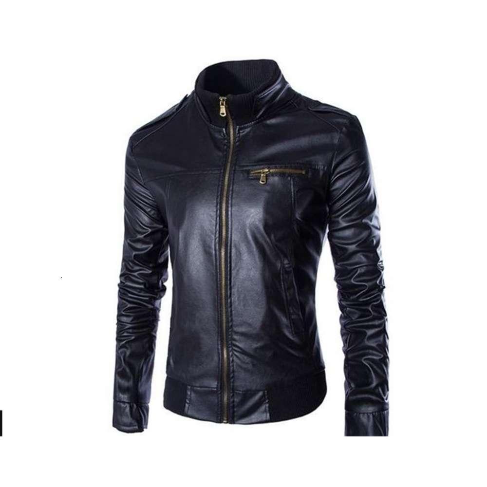 NOUVEAU Mode PU Cuir Hommes Marque Mens Vestes et Skinny Fit Moto Locomotive Punk Jacket Manteaux
