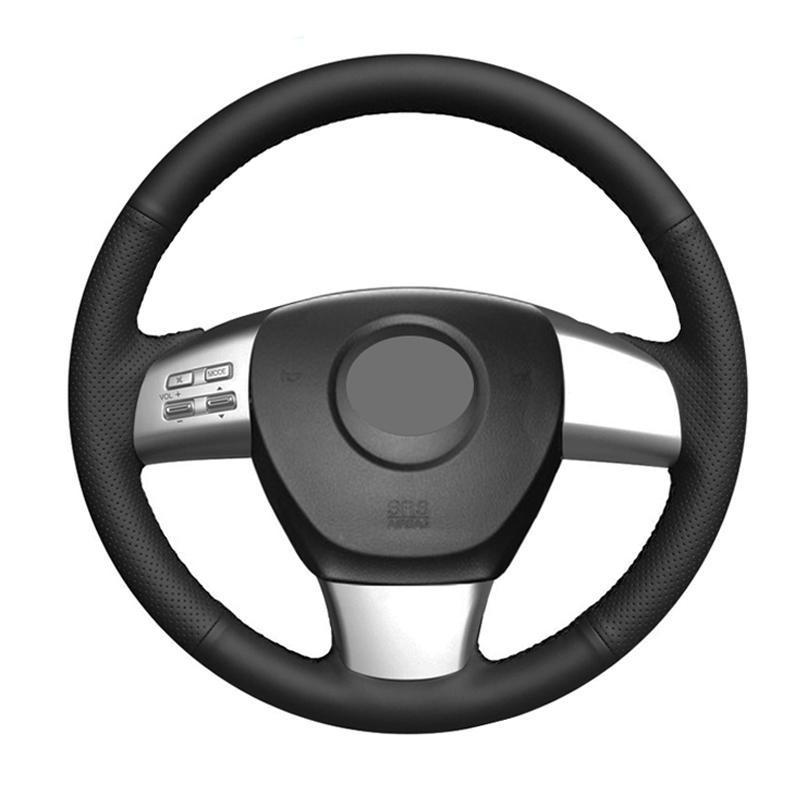 Capas de volante Cobertura de mão Cabo de carro de carro de camurça Couro de fibra de carbono para 8 2011- 2021 6 US 2009-2010 CX-9 CX9 2007-2009