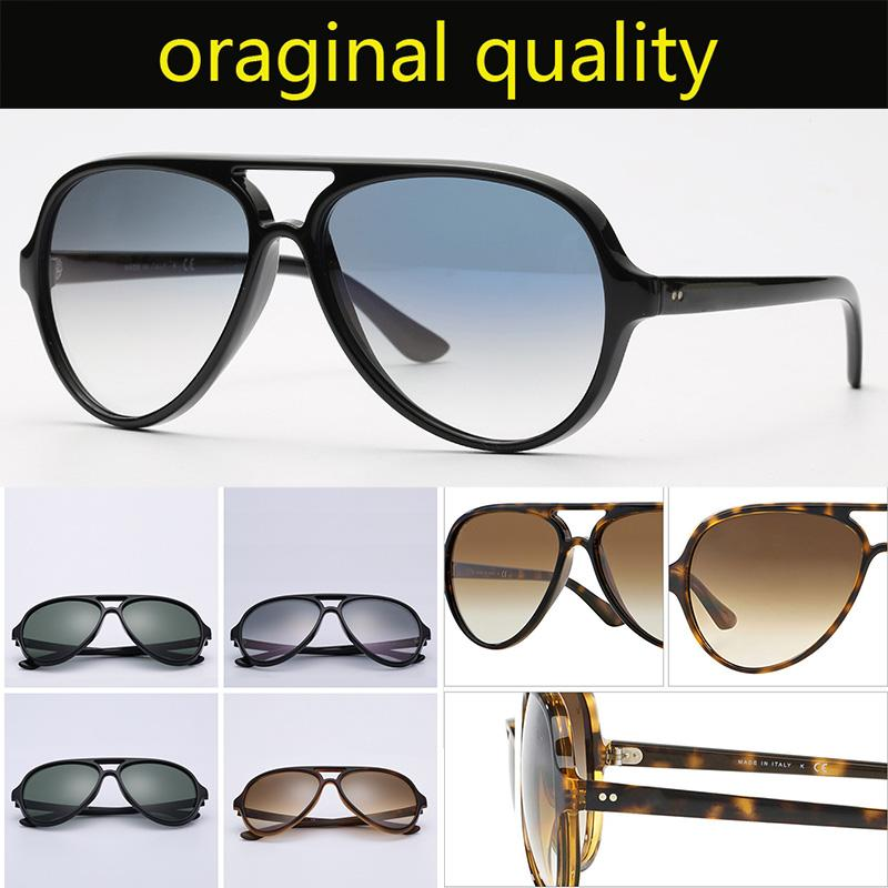 Top Quality 4125 Sunglasses Hommes Femmes Retro Sun Lunettes Nylon Cadre G15 Lentilles Forfaits originaux Design de chat