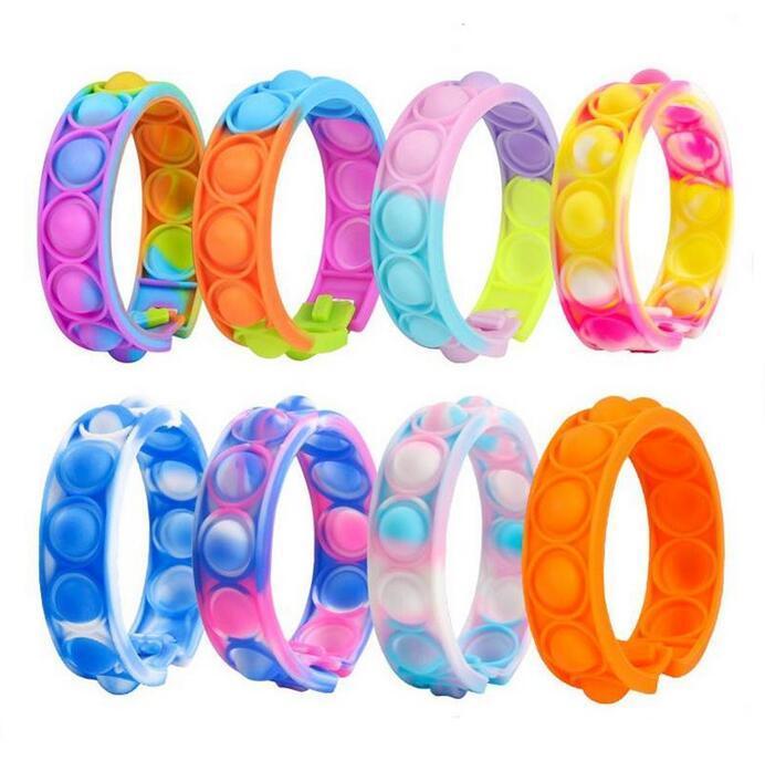 DHL fast Toys Mini Dimples Wristband Bracelet Fidget Sensory Toy Finger Decompression Game Stress Reliever Educationa CJ22