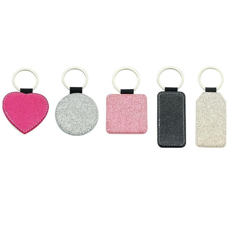 التسامي حلقة رئيسية لامعة بو الجلود المفاتيح حزب جولة القلب مستطيل مربع فارغة عيد الميلاد الحلي