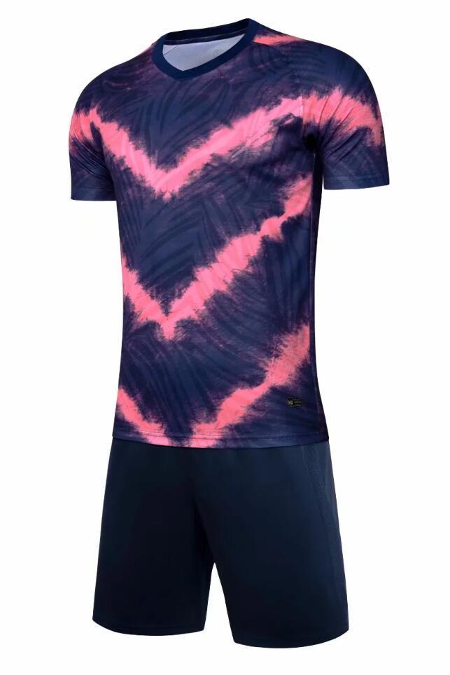 0217 Hommes Football Shirt Kits Jersey Soccer Jersey Taille adulte Taille à manches courtes Ensemble de jogging Tracksuit Set