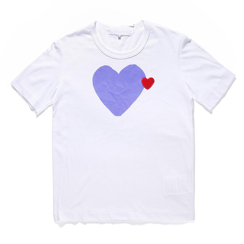 클래식 플레이 유니섹스 티셔츠 # C022 여름 반팔 패션 티셔츠 하라주쿠 고급스러운 스타일리스트 심장 패턴 남성 여성 디자이너 CDG 캐주얼 힙합 탑스