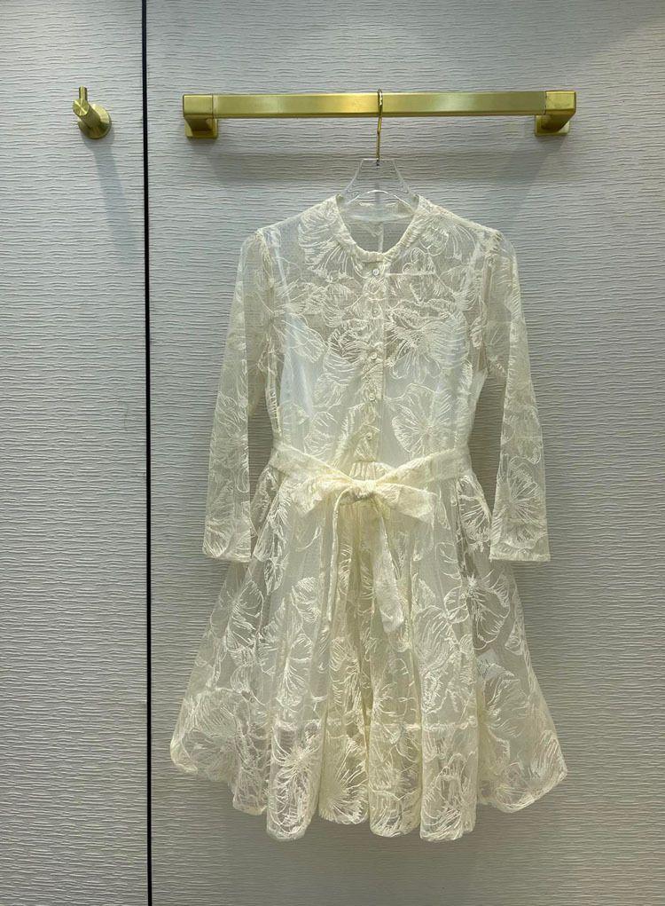 Milan pist elbiseler 2021 O boyun baskı panelli kadın tasarımcı elbise markası aynı stil etekler 0426-7