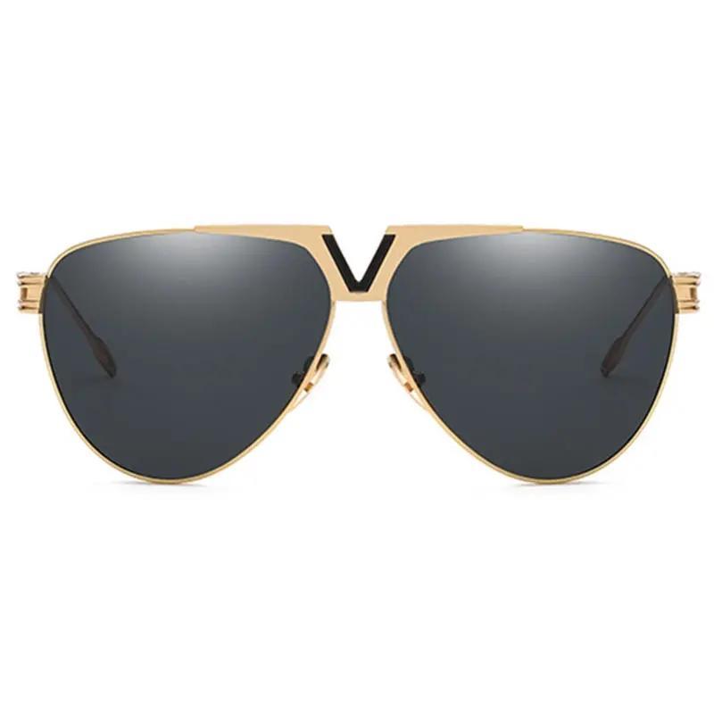 Men Women Trendy HD UV400 Metal Non-polarized Sunglasses Outdoor Mirrored Goggles