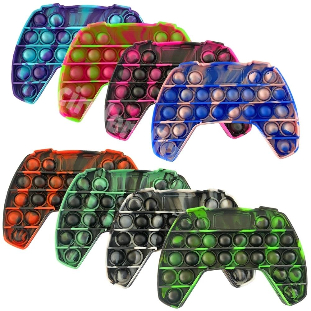 무지개 푸시 거품 Fidget Sensory 장난감 Autisim 특별 필요 방지 스트레스 게임 스트레스 구호 Quishy Fidget Toys Tiktok Cy03