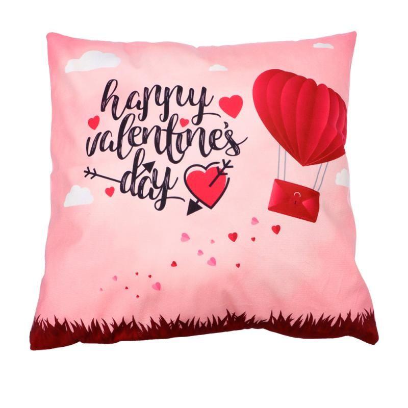 Kissen / dekorative Kissen Liebe Herz Muster Kissenbezug Romantisch Wurf Cover Kissen für Valentinstag Party (Stil 07)