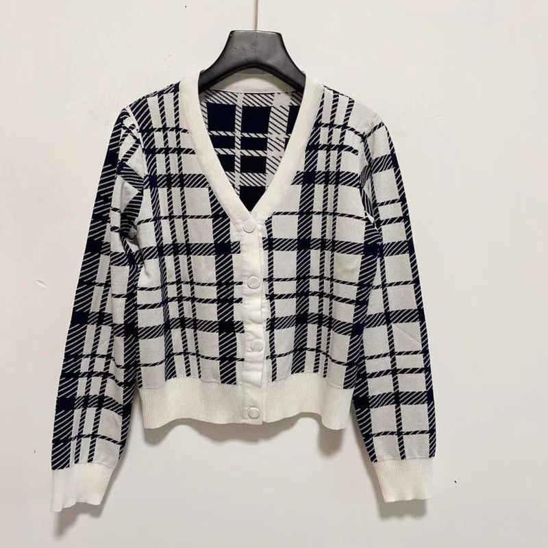 Women Clothes cardigan Luxury Couture Designer 2021 Sweater Fashion Round Neck High Quality Long Sleeve Jacquard Weave