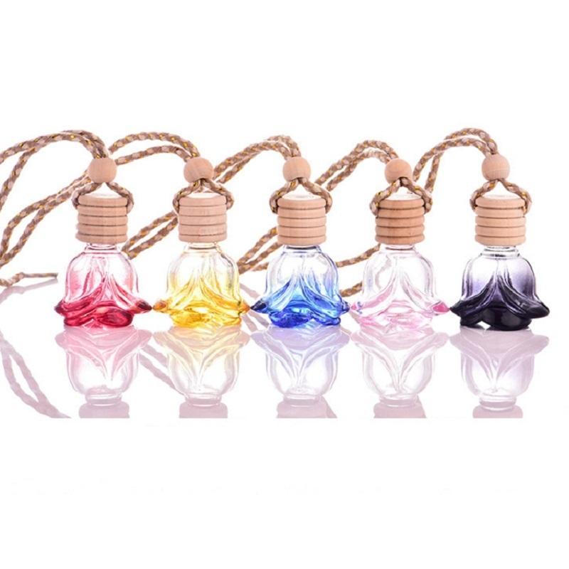 6ml Fashion couleur parfum bouteille de parfum vide cosmétique huile essentielle portable voiture pendentif rose bouteilles amour cadeau d'amour