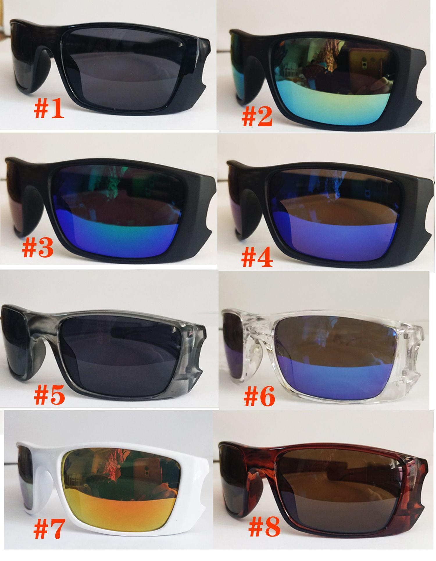 موك = 10 قطع رجل في الدراجات نظارات انبهار لون عدسة النظارات المرأة الإطار الكامل الشاطئ القيادة الشمس جلاس النظارات adumbral
