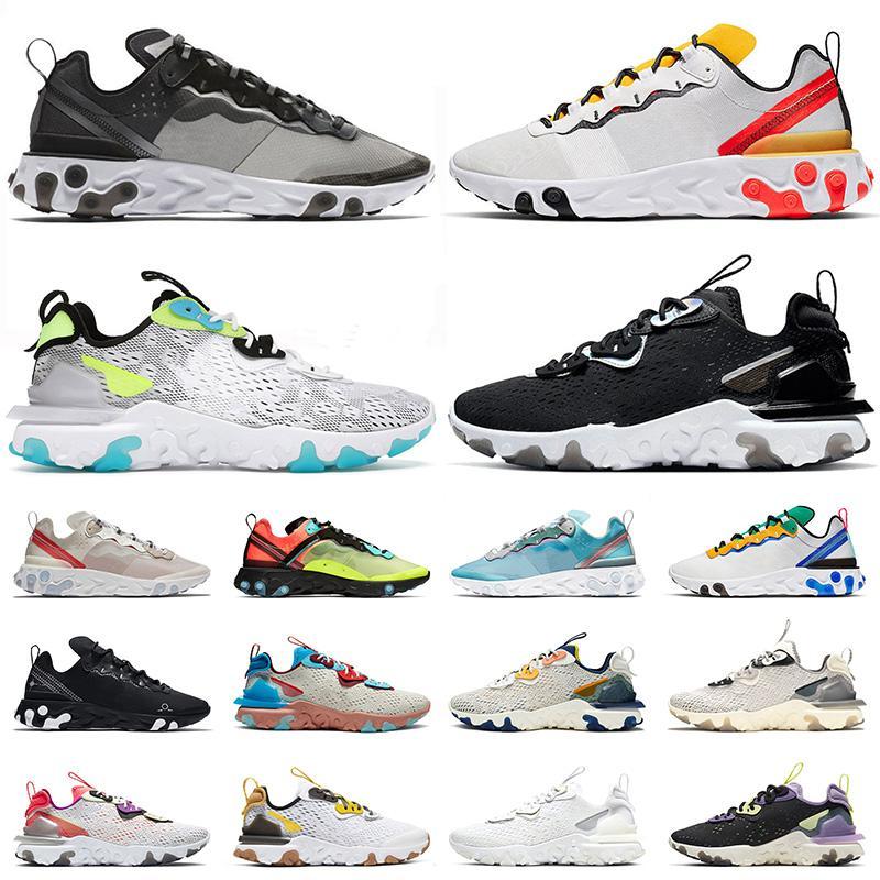 nike epic react vision element 55 2021 أفضل الجري أحذية رياضية في جميع أنحاء العالم حزمة White Element 55 Undercover للرجال النساء أسود قزحي الألوان المدربين أحذية رياضية 36-45
