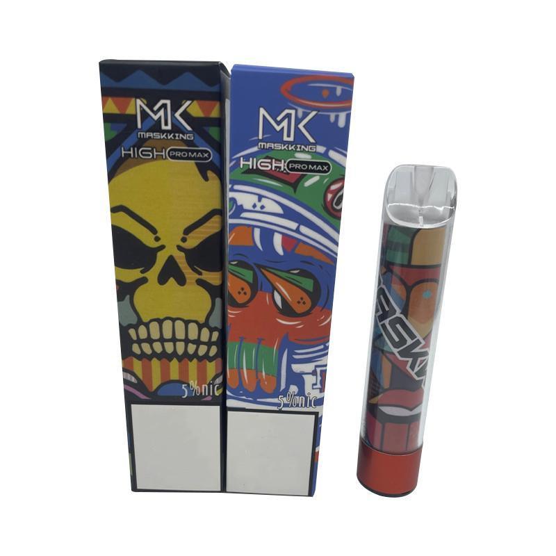 Maskking High Pro Max Max Einweg-Vape-Pen E-Zigarettengerät mit Lichtern 850mAh-Batterie 4,5ml-Pod Vorgefestete Kartuschen 1500 Puffs Mk Kit