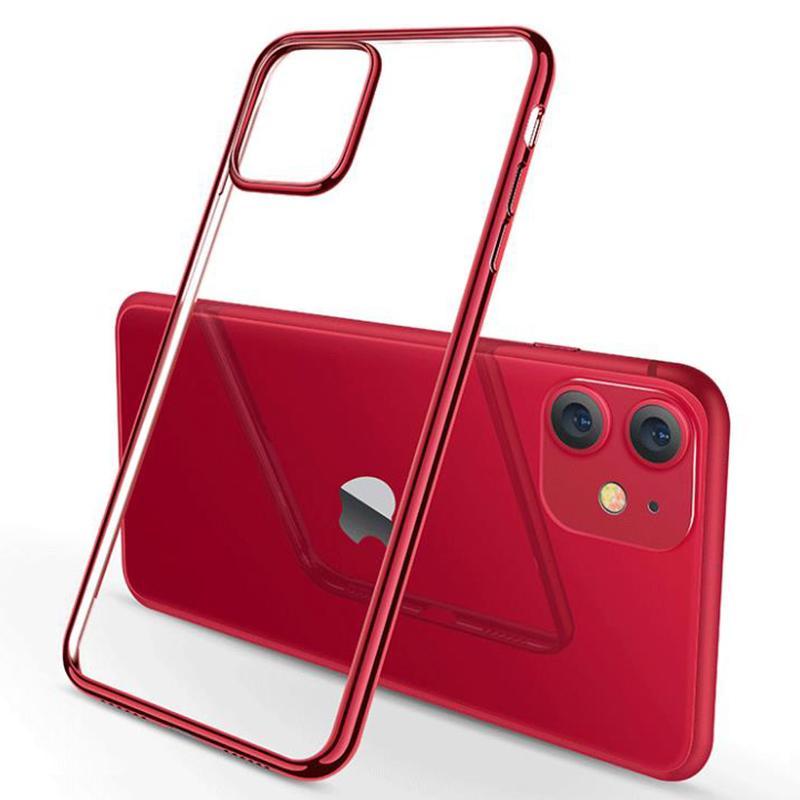 Покрытие гальванического покрытия Ультра тонкий защитный мягкий TPU прозрачный резиновый силиконовый чехол для iPhone 13 Pro Max 12 Mini 11 XS XR X 8 7 6 6s Plus SE