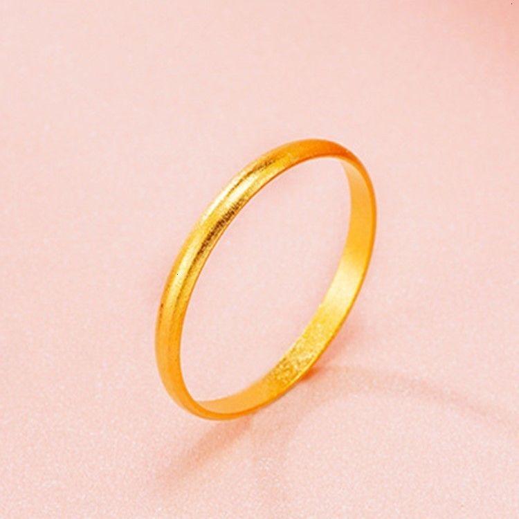 Ringmethode erbt die alte Nachahmung 18k, kleine frische und exquisite, einfache, sandgoldene Paare