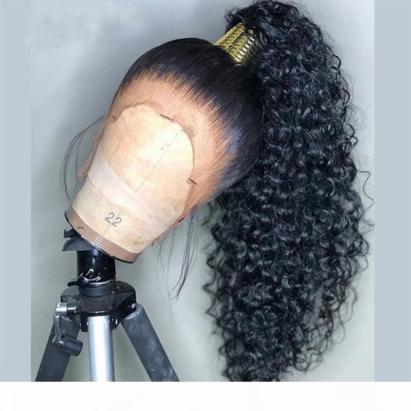 Pelucas frontales de encaje rizado profundo con cabello bebé pelucas de encaje completo para mujeres negras 360 encaje peluca frontal