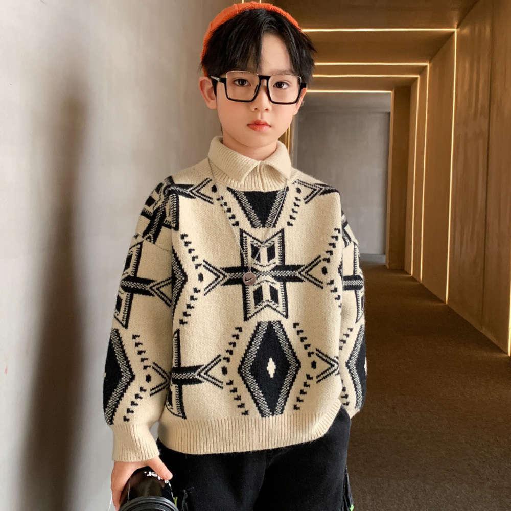 Vêtements pour enfants Pull de pull pull-oeuvre Version pour enfants Yangqi 9 épaissis d'école de collège pour garçons d'automne et d'hiver