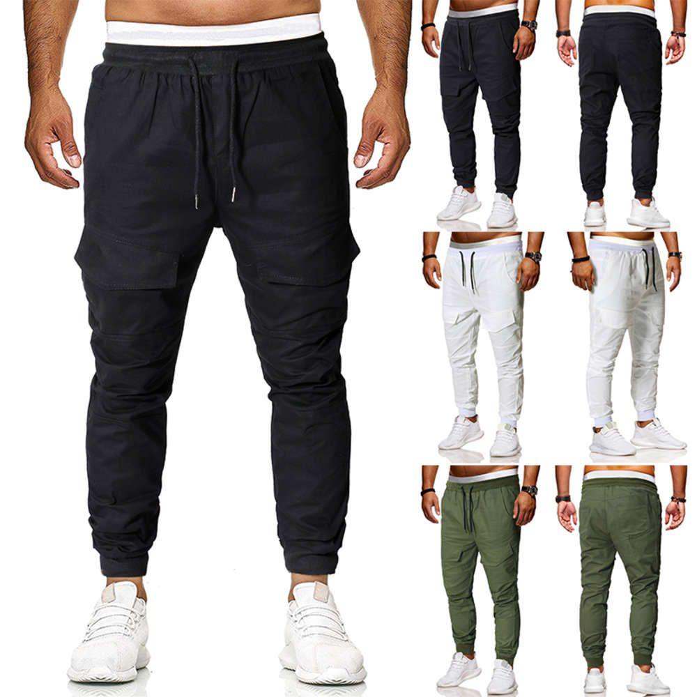 Hombres Largos Pantalones deportivos Casuales Gimnasio Slim Fit Pantalones corriendo Joggers Gimnasia Sweetpants