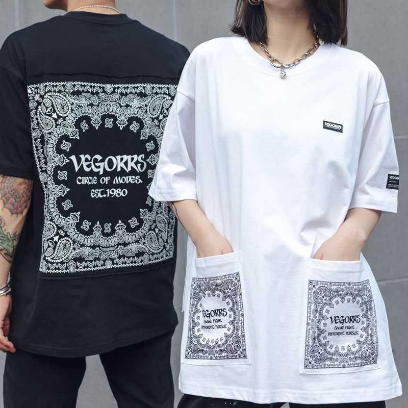 Ch Crosin H / Greare / Chrome Crosin Vegorrs New Street Ins Fashion Brand Brand Dark Black Hip Hop Manica corta Anacardio Anacardio Tshirt per uomo