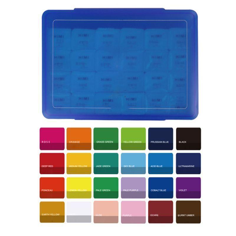 18/24 cores guache pintura conjunto com paleta 30ml aquarela pintura para artistas y5la conjuntos de presente