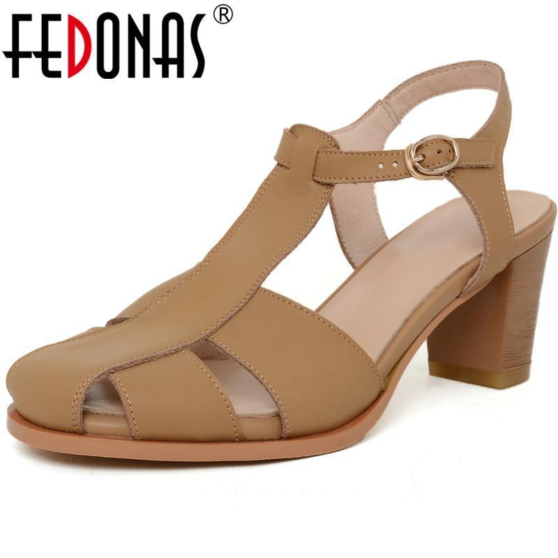 Красивые сандалии для женщин 2021 летняя натуральная кожа мелководные полоски каблуки накачки свадебная вечеринка обувь женщина