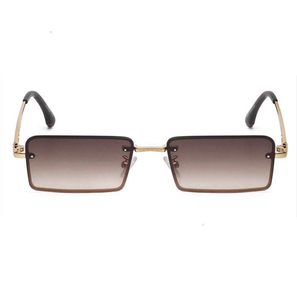 Fashion's Sunglass Moda Pequena Quadro Quadrado Liga Ao Ar Livre Condução de Luxo Marca Gradiente Vidro