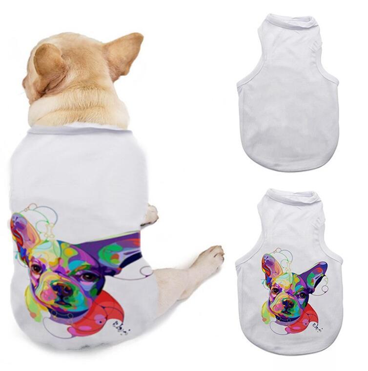 DIY الكلاب تي شيرت الملابس التسامي الحيوانات الأليفة فارغة 3 أحجام أكمام الكلب جرو سترة لوازم الملابس WWA277