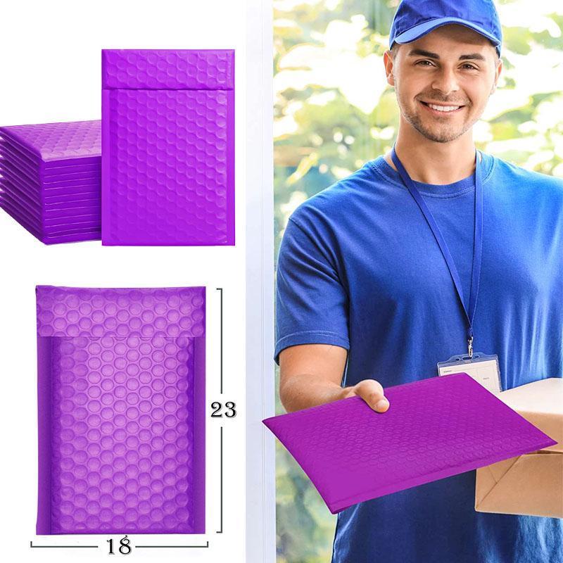 Sacos de embalagem 50 pcs bolsa de embalagem roxa para bolha de negócios mails embutidos embutidos pacote preto rosa