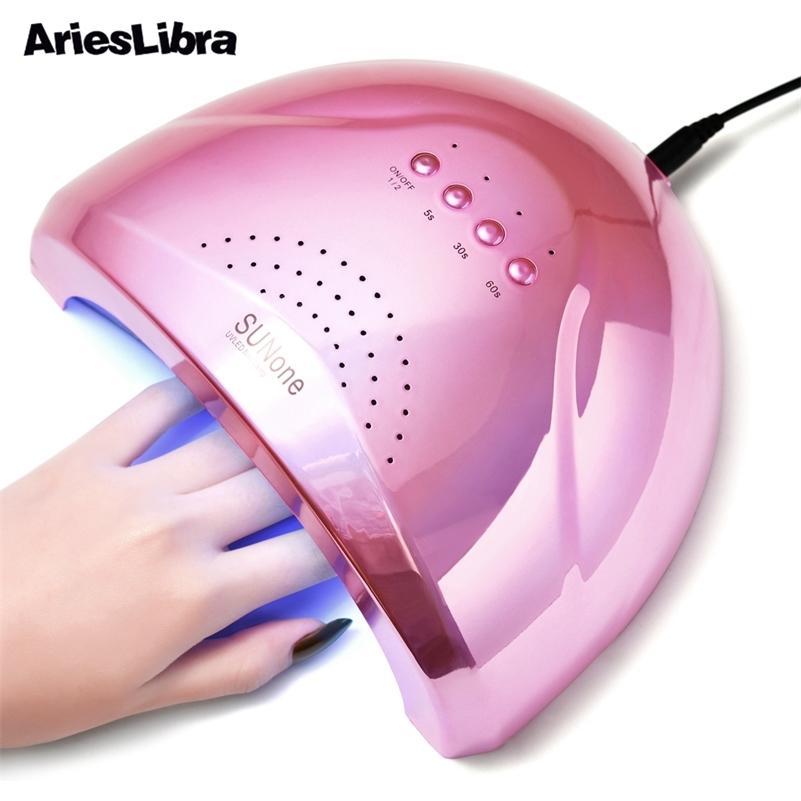 48 W Pembe UV LED Lamba Çivi Kurutucu Için Kür Için UV Jel Oje 5 S / 30 S / 60 S Hızlı Kuruyan Tırnak Lambası Kür lambası Jel Vernik 210320 Için