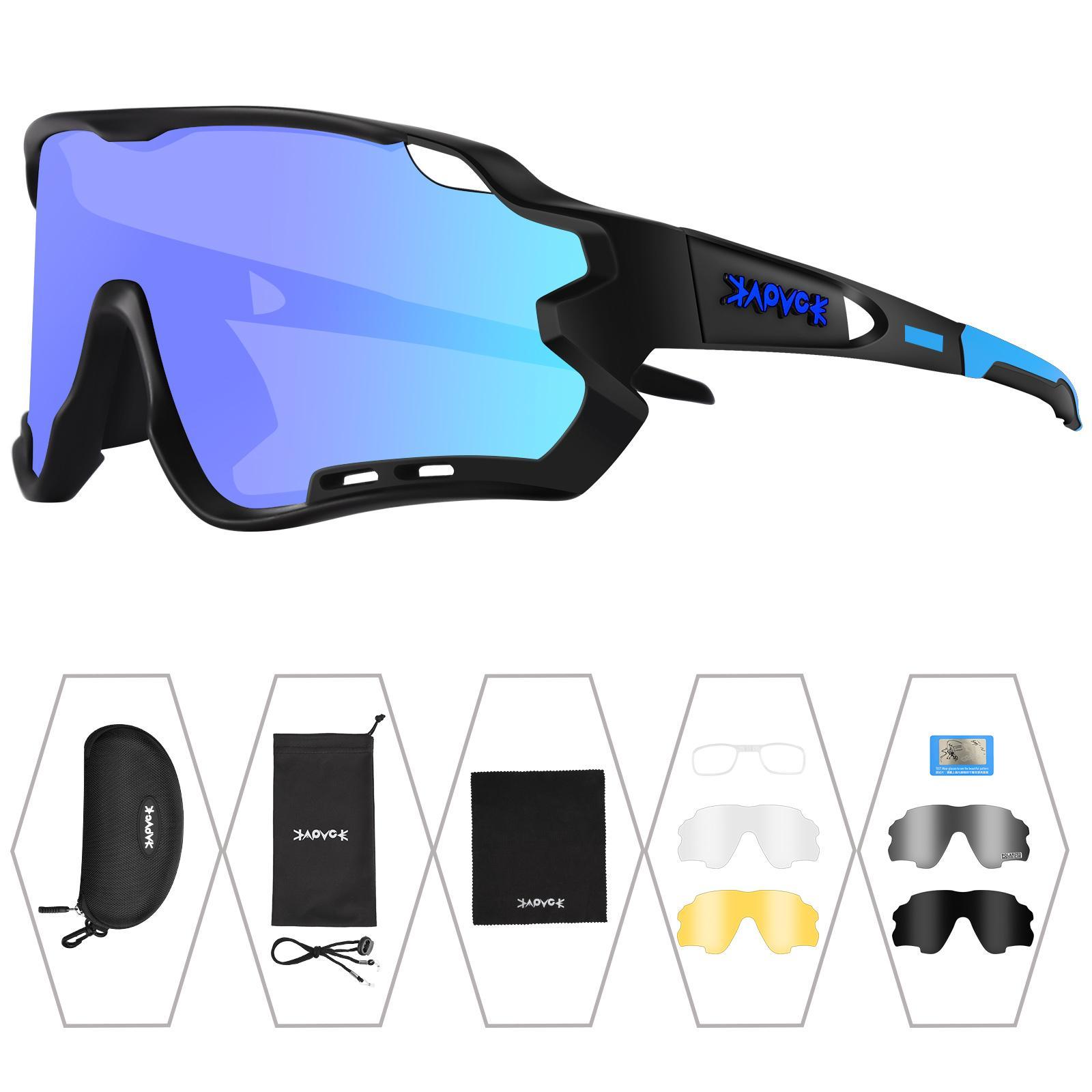 브랜드 photochromic 사이클링 선글라스 UV 보호 편광 된 자전거 안경 스포츠 고글 안경 남성 여성 Wielrenbril