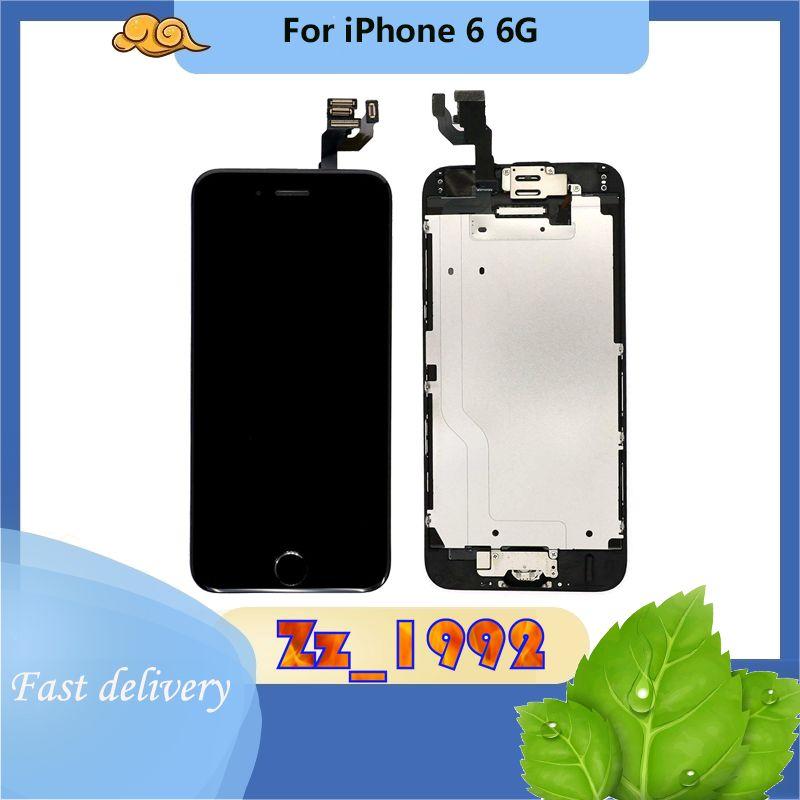 """4.7 """"Сотовый телефон сенсорные панели супер Качество для iPhone 6 6G ЖК-экран Дисплей с заменой Digitizer черный белый 100% протестирован"""