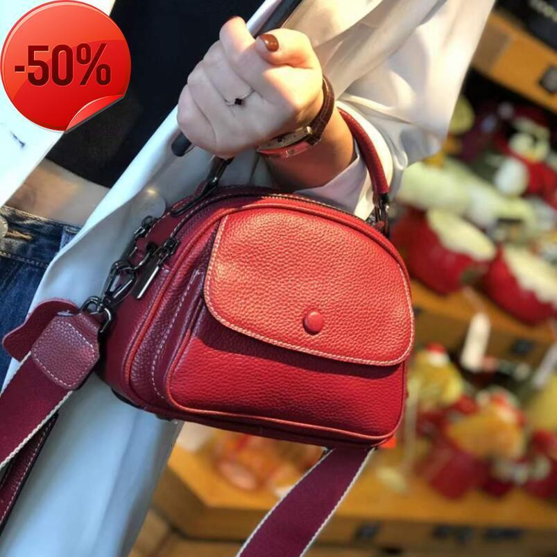 Bag women's 2021 new spring and summer leather bag fashion apple one shoulder portable messenger double strap